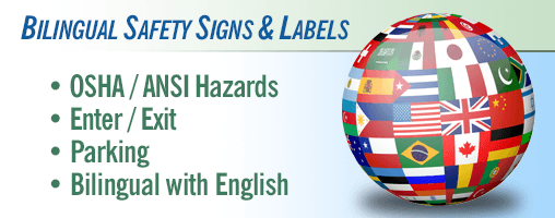 International / Bilingual Safety Signs & Labels
