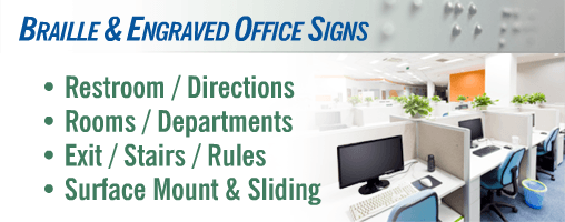 Office Signs - Engraved and Tactile Braille