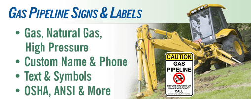 Gas Pipeline Utility Signs & Markers