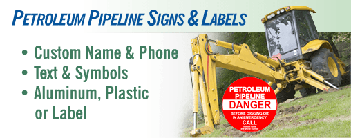 Petroleum Pipeline Utility Signs & Markers