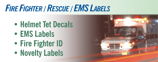 Fire Fighter / Rescue / Emergency Medical Services (EMS) Signs & Labels
