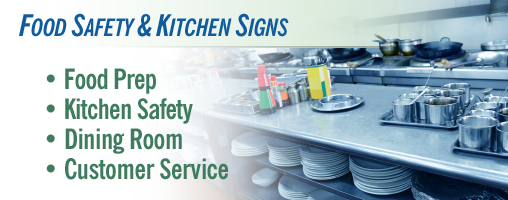 Food Safety / Kitchen Signs