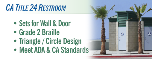 Restroom - CA Title 24 Door and Wall Sets