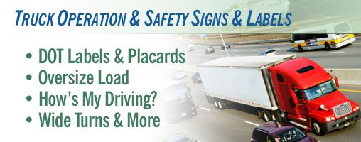 Truck Operation & Safety Signs & Labels