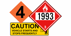 DOT - DOD Hazard sign