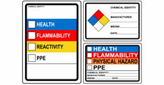 Chemical Hazmat Signs
