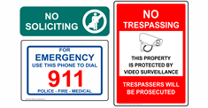 No Trespass - Surveillance Signs