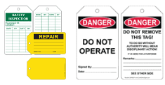 Safety Tags Signs