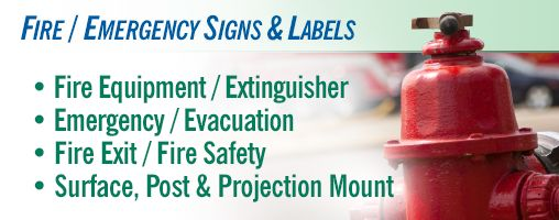 Fire / Emergency Signs & Labels