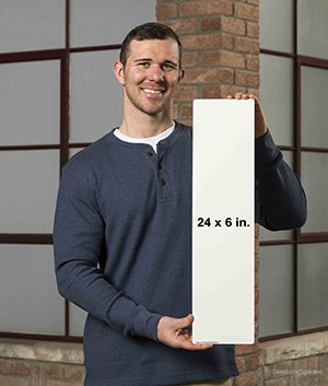 24 x 6 Inch Size Reference