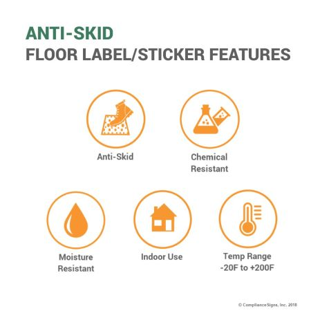 Anti Skid Floor Label Features