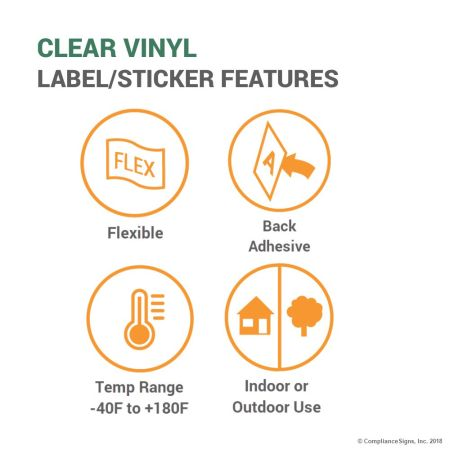 Clear Vinyl Label Features