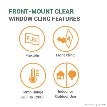 Clear Window Cling Features