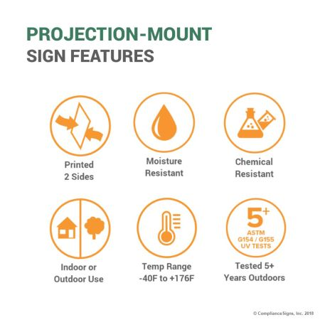 Projection-Mount Sign Features