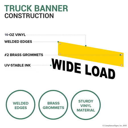 Convoy Banner Nhe 14931 Wide Oversize Long Load
